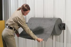 Wall-mount mat roll dispensers, PIG®