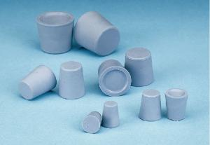 Stoppers, rubber, conical, without holes